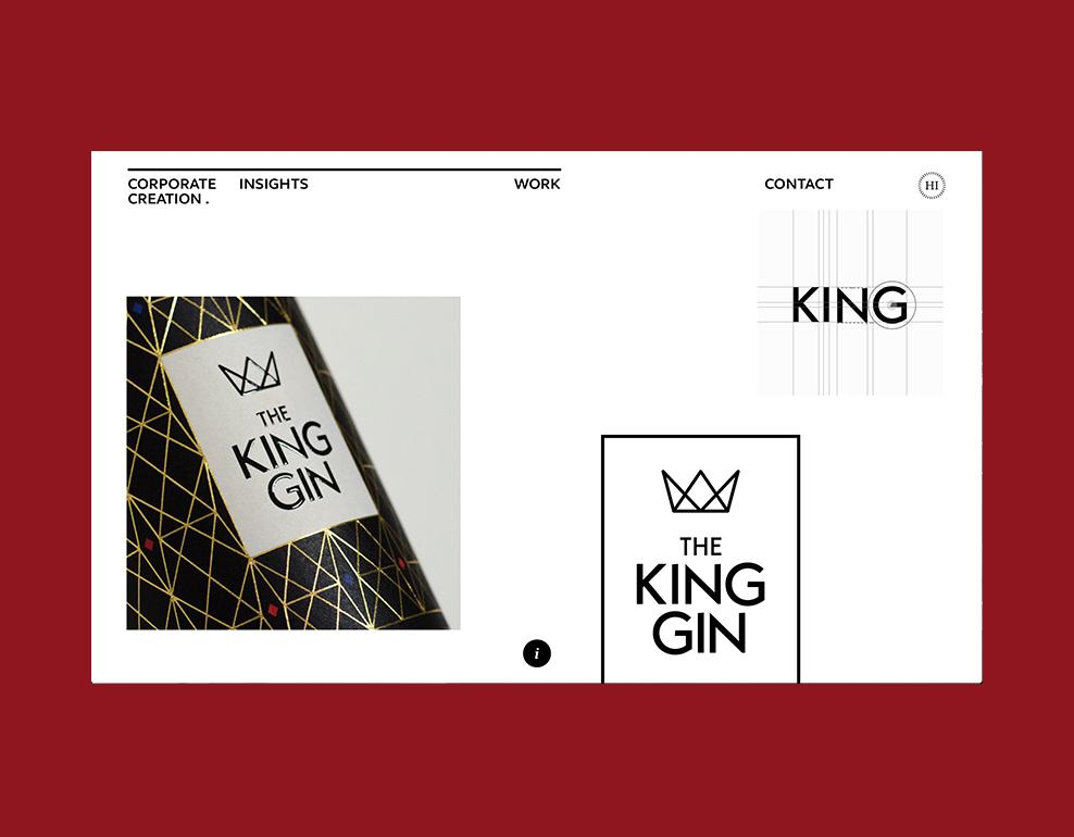 Corporate Creation Website The Kin Gin